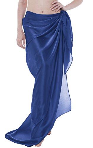 ChinFun Sheer Sarongs Bathing Suit Plus Tie Dye Bikini Cover ups Women's Swimsuit Swimwear Solid Royal Blue