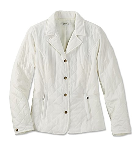 Orvis Quilted Jacket - Orvis Quilted Microfiber Jacket/Petite, Pearl, XL