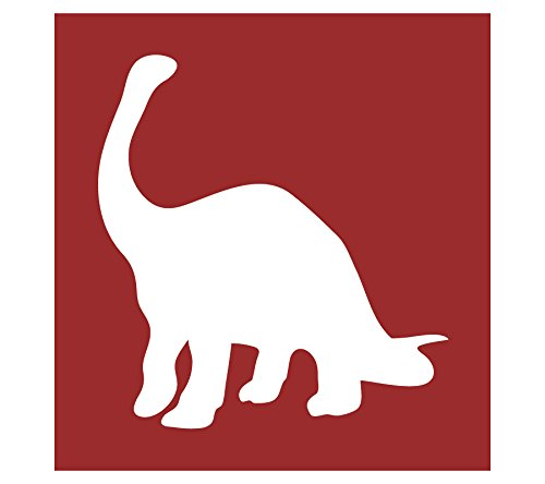 Auto Vynamics - STENCIL-DINO-04 - Brontosaurus Individual Stencil from Detailed Dinosaur Silhouettes Stencil Set! - 10-by-10-inch Sheet - Single Design