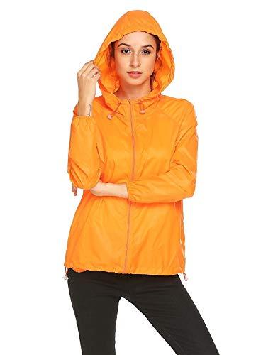 Arancia Bobo Traspirante Donna Unique Abbigliamento Impermeabile Cappuccio Da Stlie Con Tasca Giacca Funzionale 88 Antipioggia Protezione Solare Softshell BrdCoex