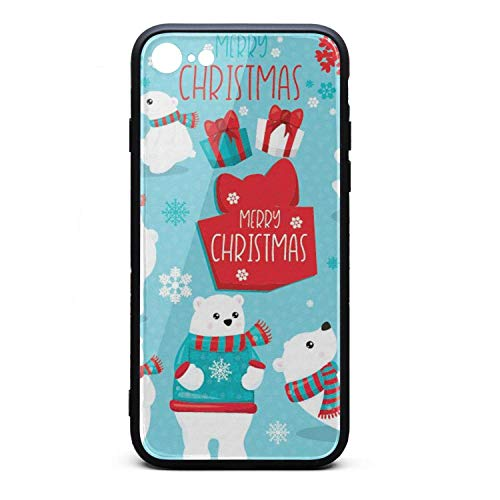 Phone Case for iPhone 6Plus/6SPlus Christmas Bear Clipart Poster TPU Gel Full Protective Best Anti-Scratch Fashionable Glossy Anti Slip Thin Shockproof Soft - Bears Clipart