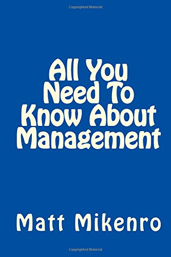 Read Online All You Need To Know About Management pdf