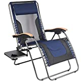 PORTAL Oversized Mesh Back Zero Gravity Recliner Chairs, XL Padded Seat Adjustable Patio
