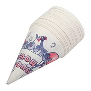 Heavy Duty 6 OZ Snow Cone Cups Sno-Kone (Box of 1000) Concession Supplies