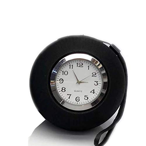 Portable Wireless Bluetooth 4.2 Speaker Alarm Clock Hd Bass Stereo Support Tf Card Hands-Free Call Fashion Pointer Dial ()