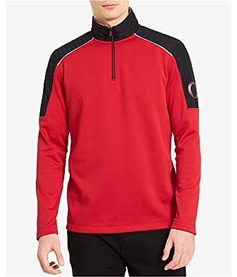 Calvin Klein Men's Quarter-Zip Fleece Sweatshirt