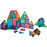 Magna-Tiles 48-Piece Clear Colors DELUXE Set – The Original, Award-Winning Magnetic Building Tiles – Creativity and Educational – STEM Approved