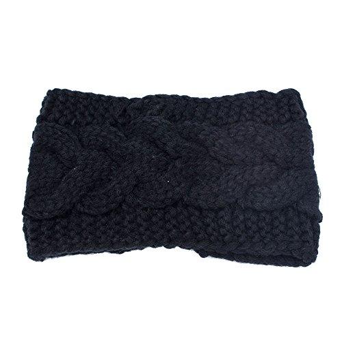 URIBAKE ❤ Women's Headwrap Ear Warmer Crochet Wool Knitted Headband Winter Warm Knitwear -