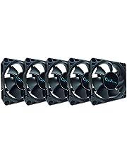 Apevia 70mm x 70mm x25mm Black Case Fan W/4PIN + 3PIN Adapter CF7025S-5 (5 Pk)