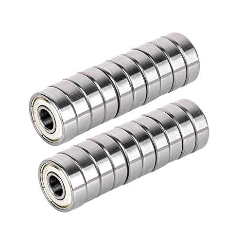 20 piezas 608zz metal doble blindado rodamientos de bolas para monopat/ín 8 mm x 22 mm x 7 mm 608 ZZ Rodamientos de bolas