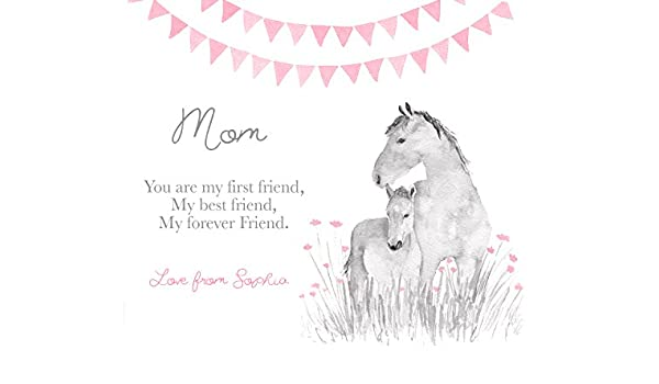 Mom first my mother Forever my best friend sign unframed art print gift