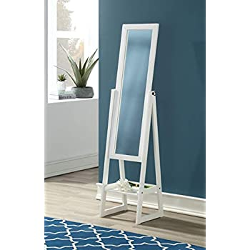 Amazon Com Crown Mark Cheval Mirror White Finish Home