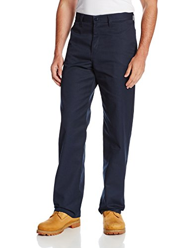 Dickies Occupational Workwear LP812NV 30x30 Polyester/ Cotton Relaxed Fit Men's Industrial Flat Front Pant with Straight Leg, 30