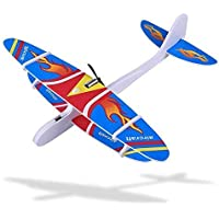 ICW Hand Throw Flying Glider Planes Foam Airplane Model Toys Game Glider Fall-Resistant Foam Airplane Toy for Kids