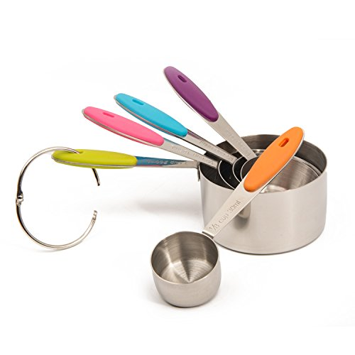 bekith stainless steel measuring cups and spoons set 10 piece new ebay. Black Bedroom Furniture Sets. Home Design Ideas