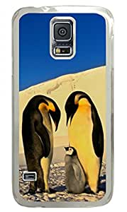 The Penguin Warm Family Samsung Galaxy S5 Transparent Sides Hard Shell Case by Cristinay