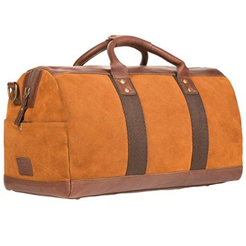 Will Leather Goods Men's Cognac Brown Signature Suede Atticus Duffle