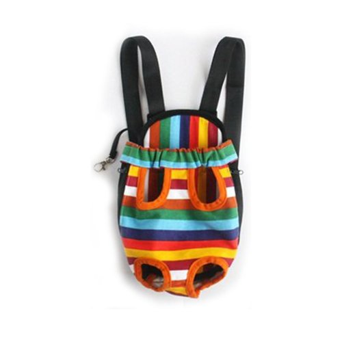 Mallofusa ® X-large Extra Large Size Colorful Stripe Pattern Pet Legs Out Front Carrier/bag