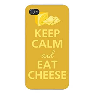 Iphone Custom Case 5 / 5s White Plastic Snap on - Keep Calm and Eat Cheese