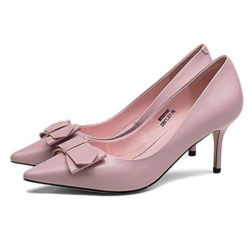 Vaaleanpunainen Cm Häät 39 5 8 Uk Muoti Musta eu Korkokengät 8 6 Nainen Seksikäs Työtä Avokkaat qg0nx7v
