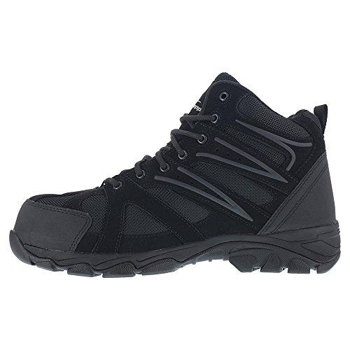 Knapp Men's Ground Patrol Waterproof Trail Hiker Boots, Black Leather, Mesh, 7.5 M