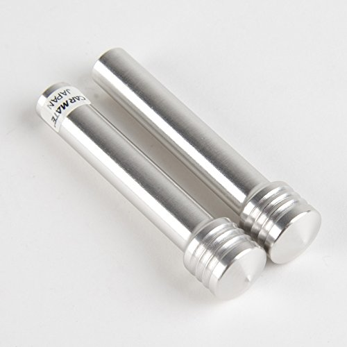 Carmate BF11 BIllet JDM Door Lock Knobs - Brushed Aluminum 'Bady's Factory' (Billet Door Lock Knobs)