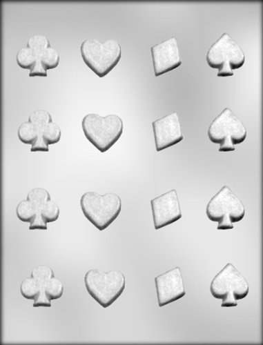 CK Products Spades, Clubs, Diamonds, and Hearts Chocolate Mold (Spade Heart Diamond)