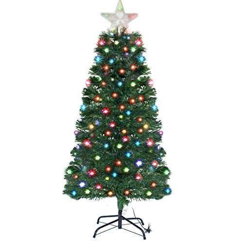 Led Color Changing Artificial Christmas Tree White And Multicolor Lights