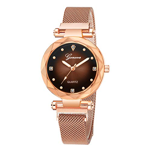Quartz Stackable Bangle - Londony✡Women's Watches Leather Rhinestone Inlaid Quartz Jelly Wristwatch Geneva Chronograph Watch with Crystals Link