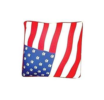 Amazoncom Rectangular American Flag Dog Bed Extra Large Pet