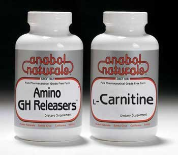 Anabol Naturals Fat Burner Stack: Amino GHR 240 caps & L-Carnitine 60 caps (2 month supply)