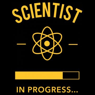 Sudadera con capucha de mujer Scientist in Progress by Shirtcity Negro