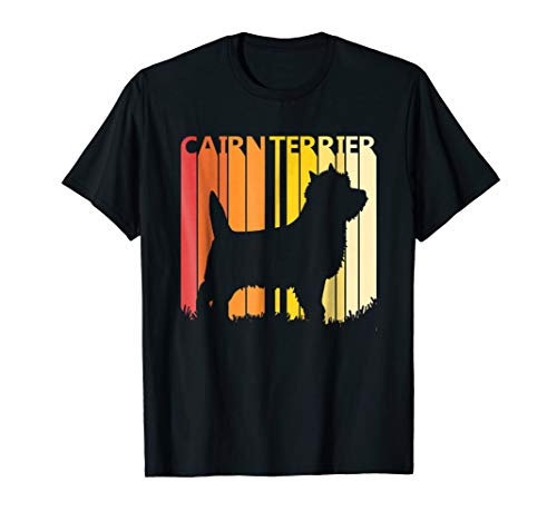 Retro Cairn Terrier Dog T-shirt Merry Christmas Gift