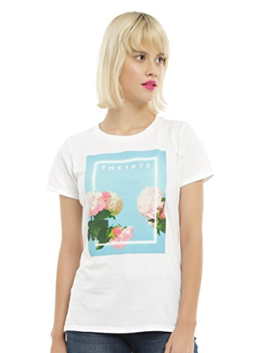 Hot Topic The 1975 Flowers Logo Girls T-Shirt White