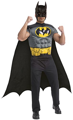 Rubie's Costume Batman Muscle Chest Top with Cap and Mask, Black, X-Large -