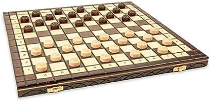 Chess Board Scacchiere Set Portatile Gioco da Viaggio per Adulti Bambini 40 cm Scacchiera in Legno e Dama Gioco con 100 campi Scacchi Professionale