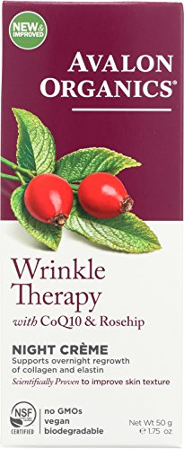 Avalon Organics Wrinkle Therapy Night Crme, 1.75 Ounce