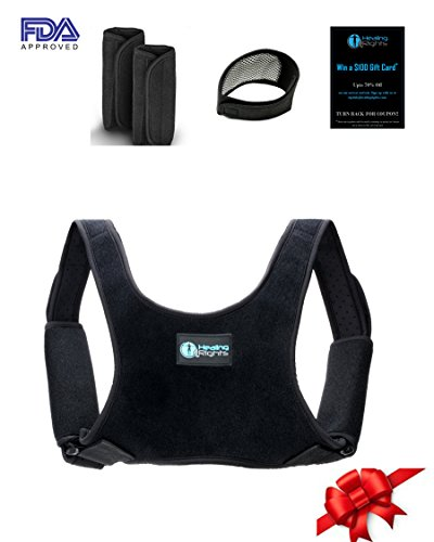 Posture Corrector for Women, Men and Kids, (27.5' -48')Back Posture Corrector - Medical Device to Improve Bad Posture, Thoracic Kyphosis, Shoulder Alignment, Upper Back Pain Relief