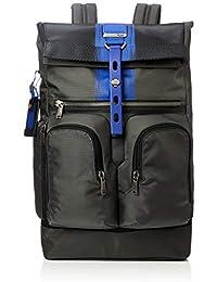 Men's Alpha Bravo London Roll Top Backpack, Brushed Blue, One Size