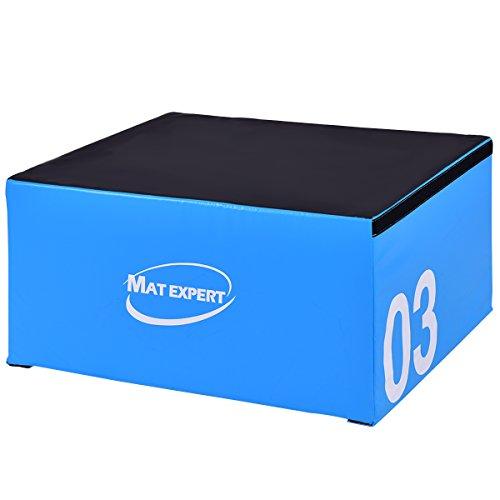 MAT EXPERT PVC Soft Foam Jumping Box Plyometric Exercise Fitness Safe Box (18