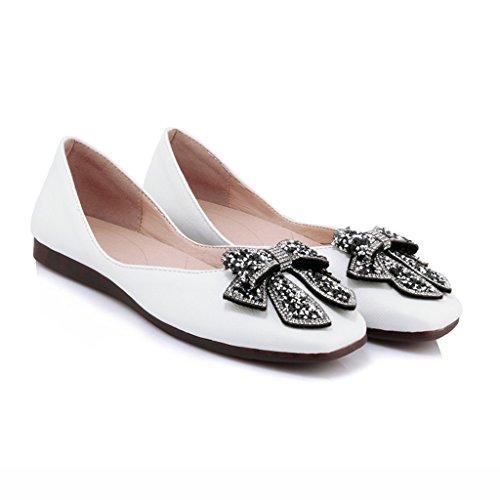 Été Chaussures Chaussures Taille étudiant femme Jaune Chaussures Simples Le Confortable pour HWF Couleur 39 Blanc Femelle Femmes Plates CFYEwvxq
