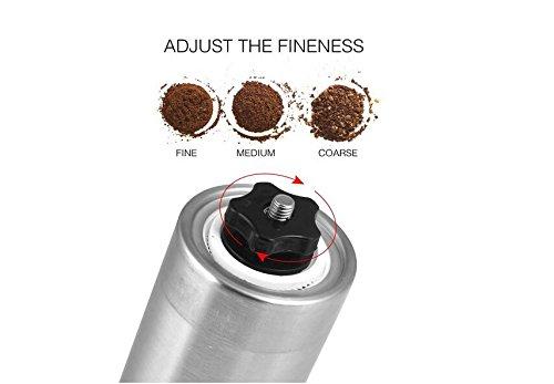 verstellbar Feinheit Aeropress kompatibel Manuelle Coffee Bean Grinder 30g Kaffeepulver Ergiebigkeit Keramik konische Grat Edelstahl K/örper HaoYiShang Handkurbel M/ühle