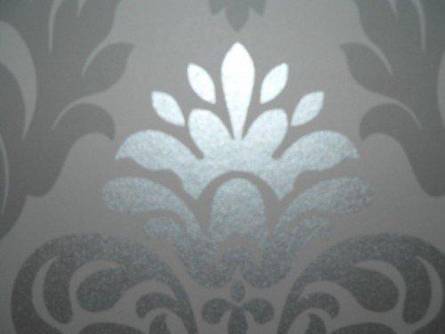 """Rasch 148213 Papiertapete Muster """"Ornament"""" Silber-Grau: Amazon.De"""