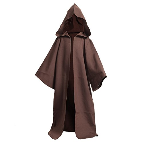 BLESSUME Medieval Knights Hooded Robe Cloak Halloween Fancy Cool Cosplay Costume -