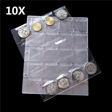 Silver Strike Token - Plastic Coin Holder Collection Storage Currency Banknote - 1PCs