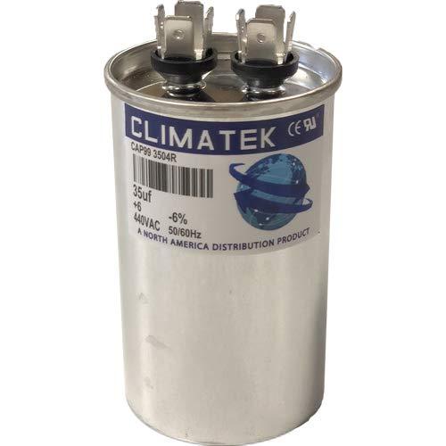 Climatek Motor Run Capacitor 35 uF MFD 440 Volt Round Fits GE Genteq 97F9611
