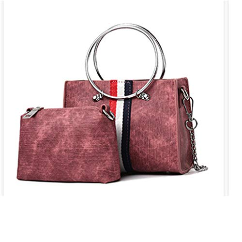 pour Size Sac à Totes Brown MiniOne Femme Shopping Wine Red Purse bandoulière Party qpw6fU