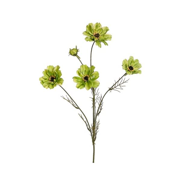 32″ Silk Cosmos Flower Spray -Green (Pack of 12)