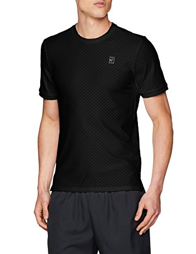 Noir court Manches Checkered Nike Courtes BL Blanc XXL Haut t01nPw