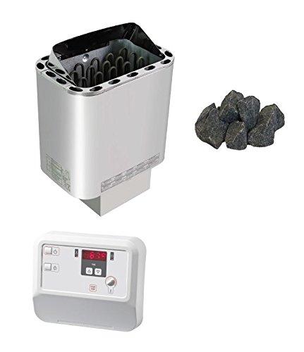 Sawo Nordex Saunaofen Sentiotec 6 KW mit Saunasteine und Saunasteuerung A2